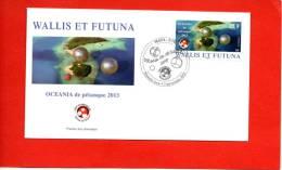 """WALLIS ET FUTUNA : PETANQUE  PREMIER JOUR Du Timbre 25F """"OCEANIA DE PETANQUE 2012"""" Enveloppe Illustrée CONCORDANTE - Bowls"""