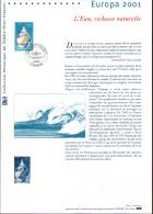 2001 - DOCUMENT OFFICIEL - EUROPA 2001 - L4EAU, RICHESSE NATURELLE - Documentos Del Correo