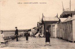 14 Grandcamp Les Bains Les Cabines Animée - Francia