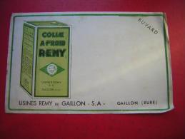 BUVARD COLLE A FROID REMY  USINES REMY DE GAILLON S A  EURE - Buvards, Protège-cahiers Illustrés