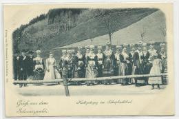 GRUSS AUS DEM SCHWARZWALD (CPA AVANT 1900) - HOCHZEITSZUG IM SCHAPBACHTHAL - Allemagne