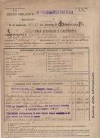 ^ CALICE LIGURE FINALBORGO ALBENGA FANTERIA SAVONA LAGORIO GUERRA ITALO TURCA FOGLIO MATRICOLARE DOCUMENTO MILITARE 18 - Documenti Storici