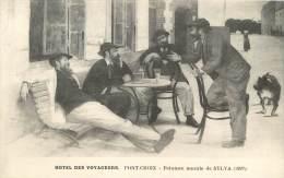 PONT CROIX    HOTEL DES VOYAGEURS   PEINTURE DE SYLVA - Pont-Croix