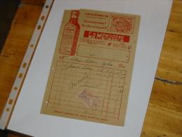 Facture  La Menagere Boisson De Famille   Timbre Fiscal - Reclame