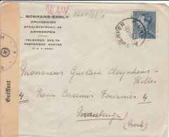 Censure Controle Postal Militaire 1941 De Belgique Pour Maubeuge Censor Geoffnet - Marcophilie (Lettres)