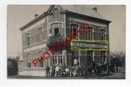 HERBERG-BIJ G. MATTHUS-NON SITUEE-CARTE PHOTO Allemande-GUERRE 14-18-1WK-Animation-Soldats-BELGIEN-BELGIQUE- - Belgique