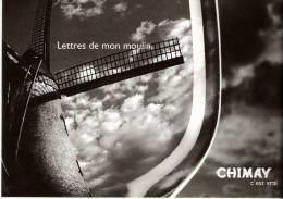 Publicité- Brasserie De Chimay-Bière Trappiste-le Vent-   Lettres De Mon Moulin (Moulin à Vent) - Advertising