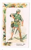 CHROMO Chicorée CASIEZ BOURGEOIS à CAMBRAI Infanterie 1480 Arbaletrier - Cromos
