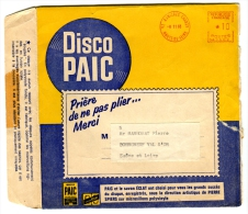 Disque Vinyle Souple Lessive Paic-Publicité-Tarif Spécial -Oblitération Mécanique Asnieres-3 Scans - Advertising