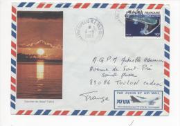 Timbre ATOLL DE TUPAI Yvert N° 187 Oblitéré PAPEETE  04/08/1983 - Au Verso Photo 14 Juillet à Tahiti - Covers & Documents