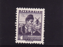 1934 Austria - Costume Del Burgenland - 1918-1945 1st Republic