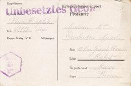 Censure Controle Postal Militaire Stalag D´allemagne Pour Le Maroc Censor Geoffnet - Marcophilie (Lettres)