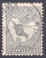 Australia 1915 Kangaroo 2d Grey 3rd Wmk INVERTED Used - Used Stamps