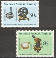 AUSTRALIA (AAT) - 1984 Magnetic Pole Expedition Set Of 2 MNH ** SG 61-2  Sc 57-8 - Australian Antarctic Territory (AAT)