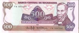 BILLETE DE NICARAGUA DE 500 CORDOBAS DEL AÑO 1985 (BANKNOTE) SIN CIRCULAR-UNCIRCULATED - Nicaragua