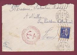GUERRE 39/45 - 100913 - Lettre Timbre FM Oblitéré De SFAX En Tunisie + Cachet 5ème Rédiment De Tirailleurs Sénégalais - Postmark Collection (Covers)