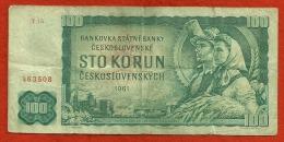 Billet  De Tchecoslovaquie  100 Korun 1961 - Tchécoslovaquie