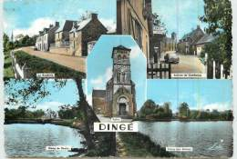 DINGUE  - Carte Multivues De La Ville. - France
