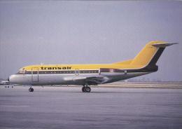 Transair Fokker F28 Mk 1000 Aircraft Postcard (A24306) - 1946-....: Modern Era