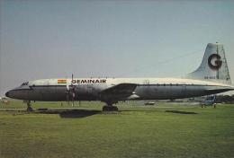 Geminair Bristol Britannia 253 Aircraft Postcard (A24286) - 1946-....: Modern Era