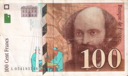 BILLETE DE FRANCIA DE 100 FRANCOS DEL AÑO 1998 DE CEZANNE  (BANKNOTE) - 1992-2000 Ultima Gama