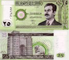 IRAQ 25 Dinars Banknote UNC Saddam P86 Note  2001 - Irak