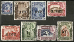 ADEN KATHIRI STATE OF SEIYUN 1951 SET SG 20/27 LIGHTLY MOUNTED MINT Cat £50 - Aden (1854-1963)