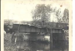 PICARDIE - 80 - SOMME  - 1914-18 - Photo 2ème PONT Chemin De Fer DE PICQUIGNY Après Destruction Partielle - Ouvriers - Guerre 1914-18