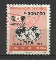 BOLIVIA 1986 - WORLD CUP FOOTBALL 300.000 - USED OBLITERE GESTEMPELT USADO - 1986 – Messico