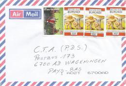 Burundi 2008 Bujumbura UPU Postal Music Group Russula Mushrooms Cover - Burundi