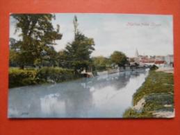27302 PC: LANCASHIRE: Malton From River. (Postmark 1906). - England