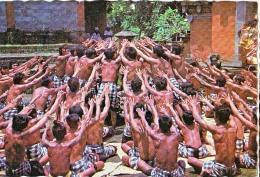 AK INDONESIA TARI KECAK BALI KACAK DANCE BALI OLD POSTCARD 1980 - Indonesien