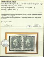 OCCUPAZIONE ITALIANA CEFALONIA E ITACA KEFALONIA ITHACA 1941 KING GEORGE II RE GIORGIO ARGOSTOLI 1 + 1 D MNH CERTIFICATO - Cefalonia & Itaca