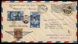 USA Emergency Airmail Service 1934 Cover Nice Cancels. - Etats-Unis