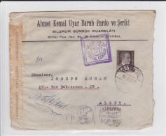 TURQUIE - 1940 - ENVELOPPE De ISTANBUL Pour ALGER Avec CENSURE EGYPTIENNE - 1921-... Republic