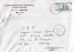 LETTRE NOUMEA CENTRE HOSPITALIER TERRITORIAL GASTON BOURRET NOUVELLE-CALEDONIE 1982 - Nueva Caledonia