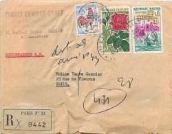 LETTRE RECOMMANDEE AVEC ACUSE DE RECEPTION CABINET CAMILLE CANET PARIS BOULEVARD BOURDON 75004 - 1921-1960: Moderne
