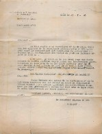 CAEN RAVITAILLEMENT GENERALE DU CALVADOS SECTION DU LAIT STOCK DE LAIT ET BEURRE LETTRE MILITAIRE 1946 + CACHET - Militaria