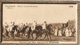 CHOCOLAT SUCHARD : IMAGE N° 102 . MARRAKECH . RETOUR D'UNE FANTASIA . MAROC . - Suchard