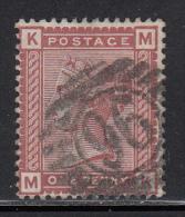 Great Britain Used Scott #79 1p Victoria, Red Brown Position MK Cancel: ´96´ - 1840-1901 (Victoria)