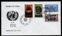 A2185) Zypern Cyprus FDC Mi.261-264 - Covers & Documents