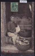 Tonkin : Petite Marchande De Tabac, à L'entrée De La Concession Ca 1905 - Timbres Indochine Française 1905 (12´727) - Viêt-Nam