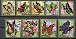 Burundi 1968 OCBn° PA LP 82-90 *** MNH  Cote 55 € Faune Vlinders Papillons - Burundi