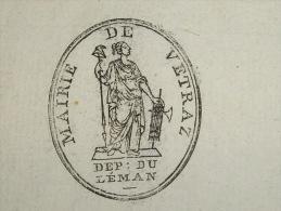 Cachet De La Mairie  De Vetraz Montoux Departement Du Léman An10 De La Republique - Cachets Généralité