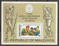 SCOUTS - MALDIVAS 1973 - Yvert #H17 - MNH ** - Movimiento Scout
