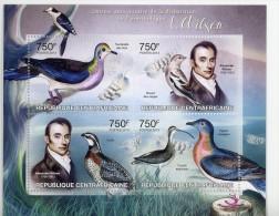 Tourterelle,Burant,Caille ,Pigeon,A Wilson-Ornithologue-Centr Afrique- Feuillet***MNH-Officiel - Pigeons & Columbiformes