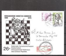 Belgique: lettre recommand�e oblit�ration 01/06/1973 Championnats nationaux.