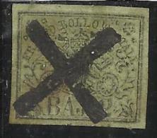 ANTICHI STATI ASI : STATO PONTIFICIO 1852 BAJ 2 VERDE GIALLASTRO ANNULLATO USED - Estados Pontificados