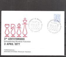 Belgique: lettre oblit�ration 03/04/1977 2i�me tournoi du Printemps Hoboken.