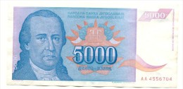 YOUGOSLAVIE 5000 Dinars 1994  - Pick 141 - NEUF  -  UNCIRCULATED - Jugoslavia